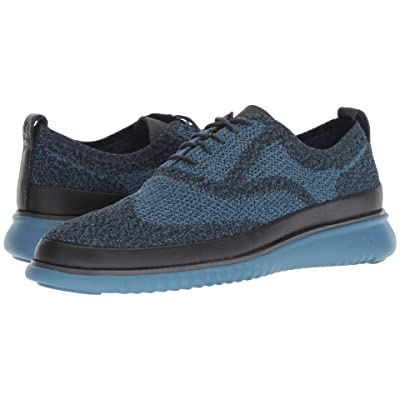 Cole Haan 2.Zerogrand Stitchlite Oxford Water Resistant (Blueberry Knit/Stellar) Men