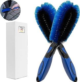Premium Felgenbürsten, 2er Pack, druckfeste Borsten, zur schonenden und effektiven Reinigung hochwertiger Felgen bis ins Felgentiefbett, Felgen Bürste Alufelgen, Felgenreinigungsbürste, Auto Reinigung