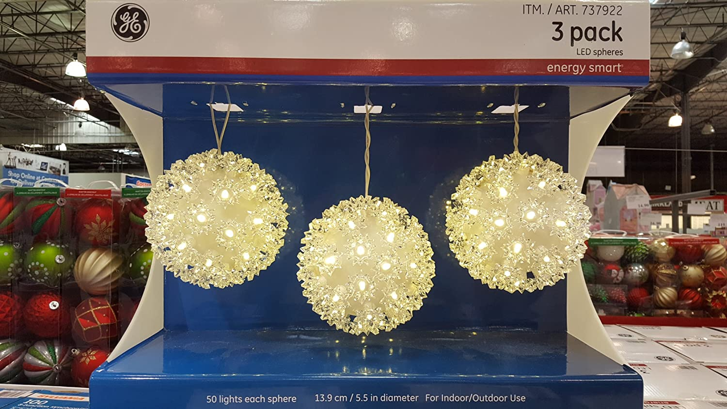 GE LED Spheres - 3 pack