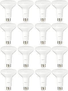 AmazonBasics 65 Watt Equivalent, Soft White, Dimmable, BR30 LED Light Bulb   16-Pack