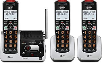 $76 » AT&T BL102-3 DECT 6.0 3-Handset Cordless Phone for Home with Answering Machine, Call Blocking, Caller ID Announcer, Audio ...