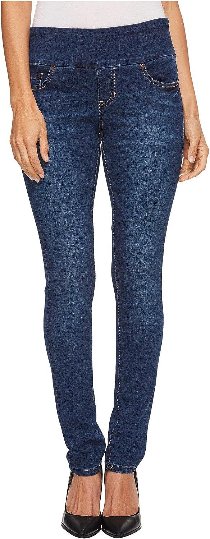 Jag Jeans Petite Womens Petite Nora Pull-On Skinny Butter Denim in Flatiron