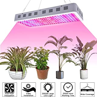 3000W LED Grow Light,Dual Chips Full Spectrum 380~730nm Plant Light Panel Grow Lamp with IR & UV Grow Light for Hydroponic Indoor Greenhouse Veg and Blooming(10W LEDs)