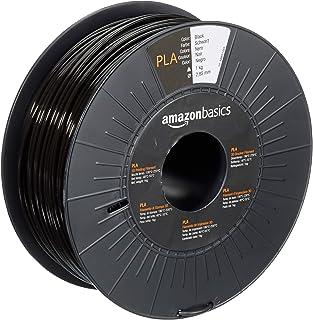 Amazon Basics Filament PLA pour Imprimante 3D, 2.85 mm, Noir, Bobine, 1kg
