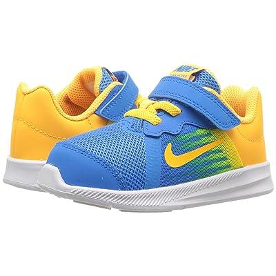 Nike Kids Downshifter 8 Fade (Infant/Toddler) (Blue Hero/Laser Orange/Clear Emerald) Boys Shoes
