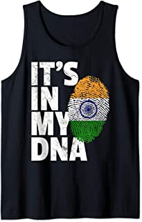IT'S IN MY DNA Indian India Flag Pride Men Women Gift Tank Top