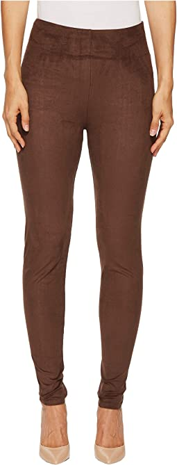 High-Waist Faux Suede Leggings
