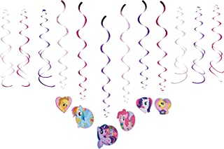 American Greetings My Little Pony Swirl Decorations, 12-Count