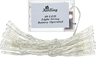 Karlling Battery Operated White 40 LED Fairy Light String Wedding Party Xmas Christmas Decorations(White)