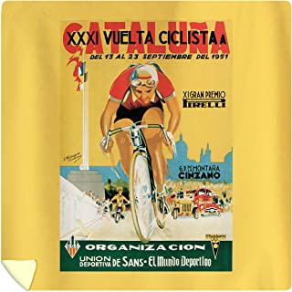 Lantern Press Bicycle Racing - Vintage Promotional Poster 41252 (88x88 Queen Microfiber Duvet Cover)