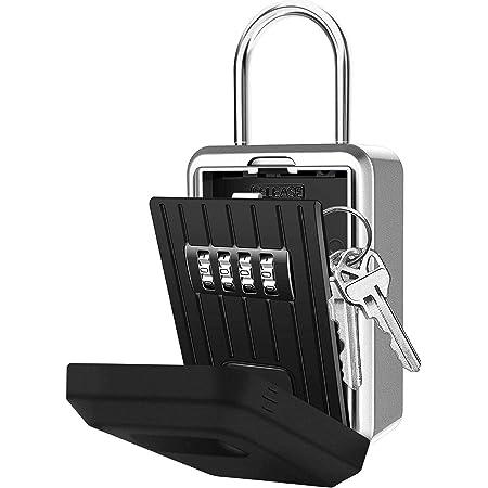 Key Safe Box Wall Mounted 4 Digits Key Lock Code Storage Case IPX5 Cover