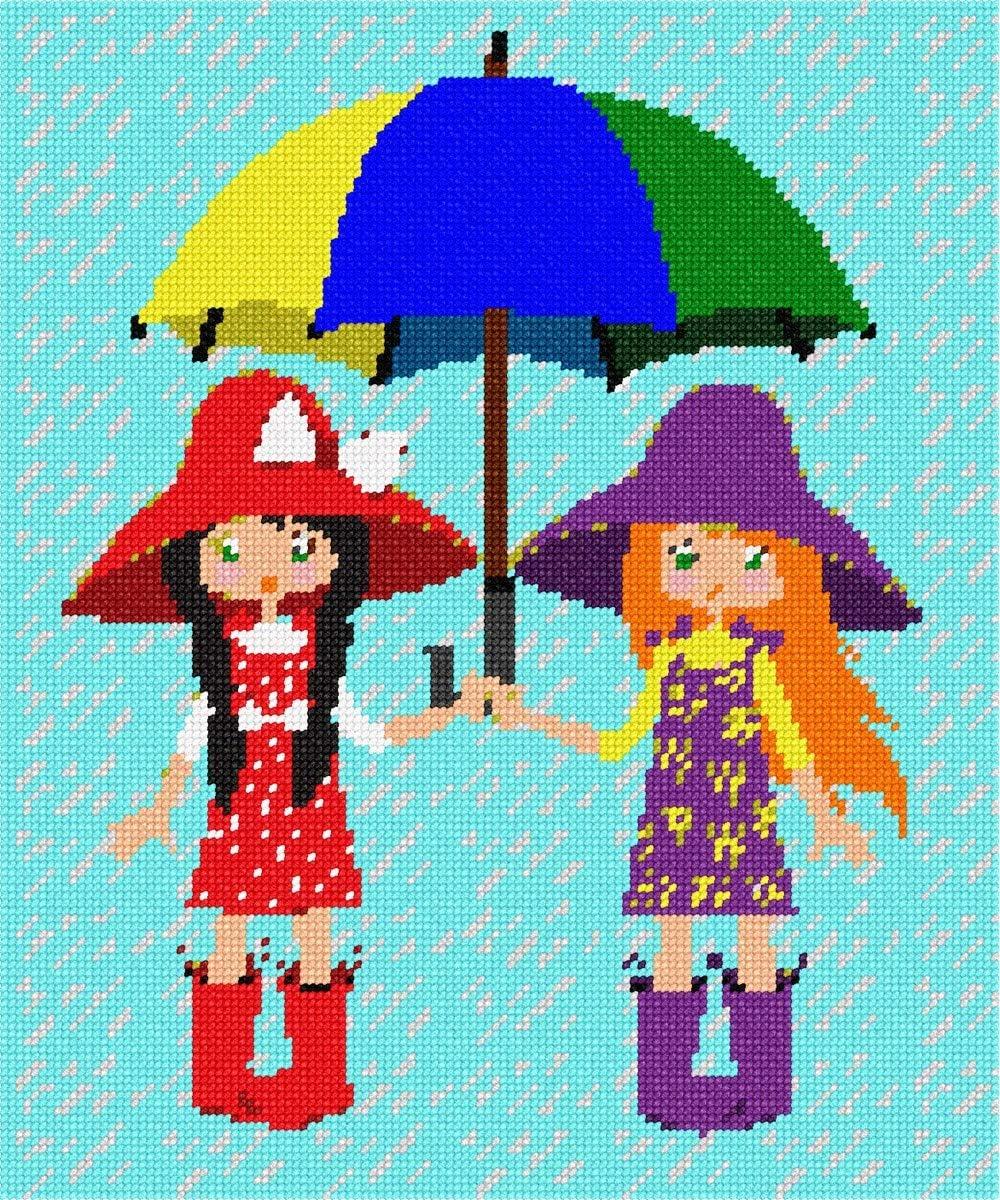 Today's only Free shipping pepita Umbrella Friends Kit Needlepoint