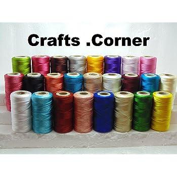 50 bobinas de máquina de coser seda arte bordado hilos Brother ...