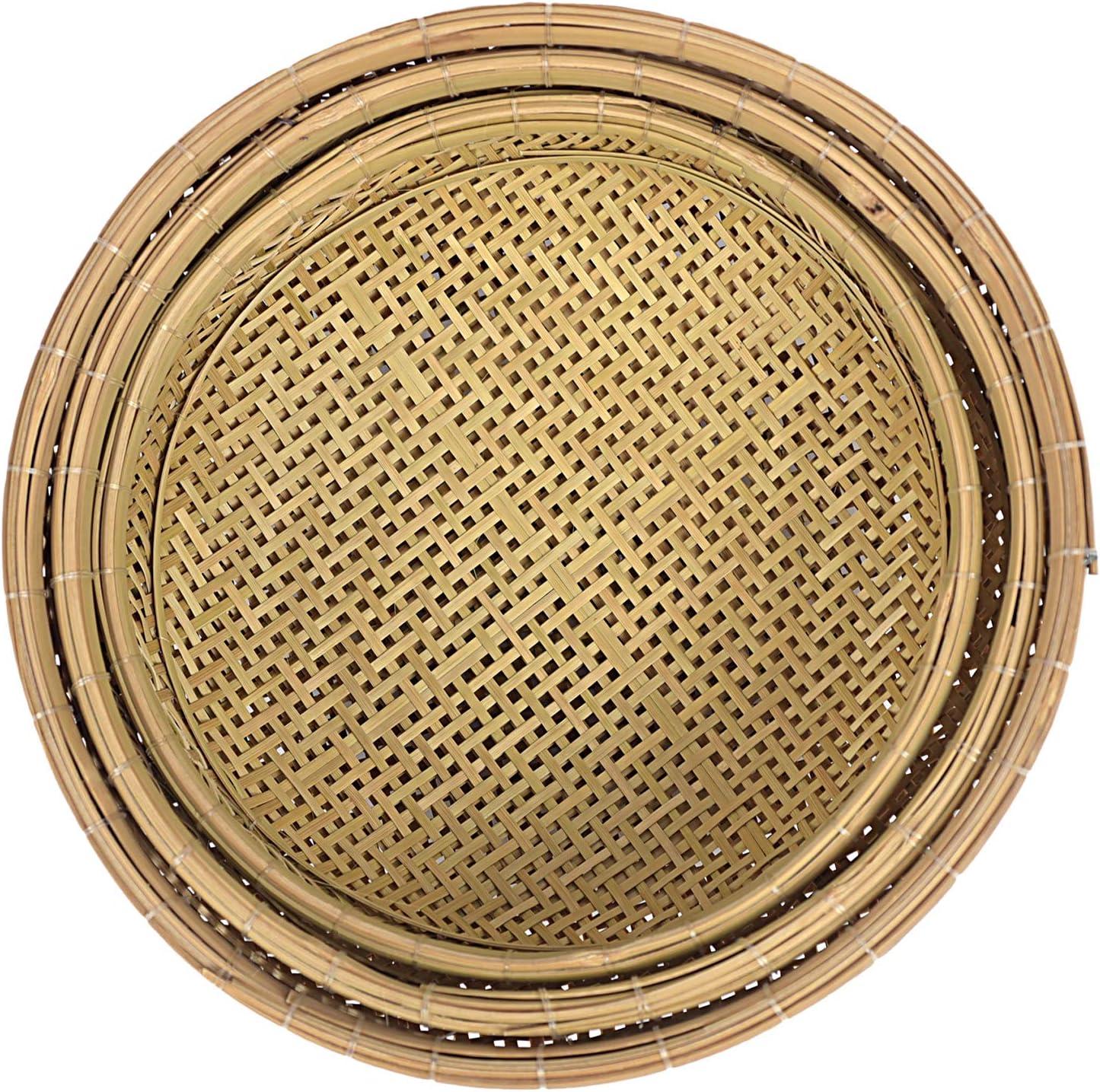 Equeen Handicraft Bamboo Round Wicker Max 76% OFF for Baskets Wa organizing Super intense SALE