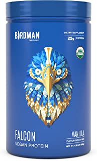 Birdman Falcon Protein Premium Vegan Protein Powder, Plant-Based, Certified Organic, Kosher, Non Dairy, Keto-Friendly, Glu...