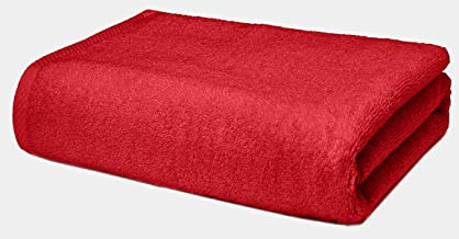 Roseate Ultra Soft 100% Cotton Large Bath Towel Super Absorbent/Anti Bacterial (550 GSM /70x140 cm) Red