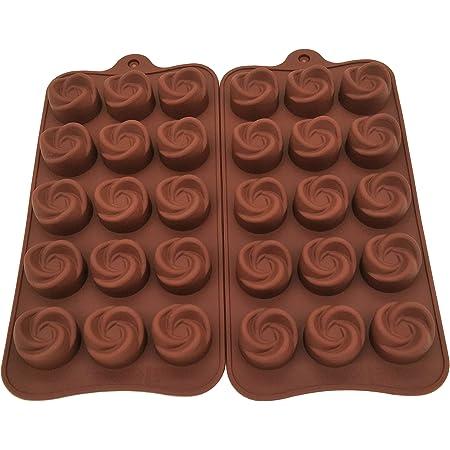 Diamond Found Lot de 2 moules /à chocolat en silicone anti-adh/ésifs r/éutilisables