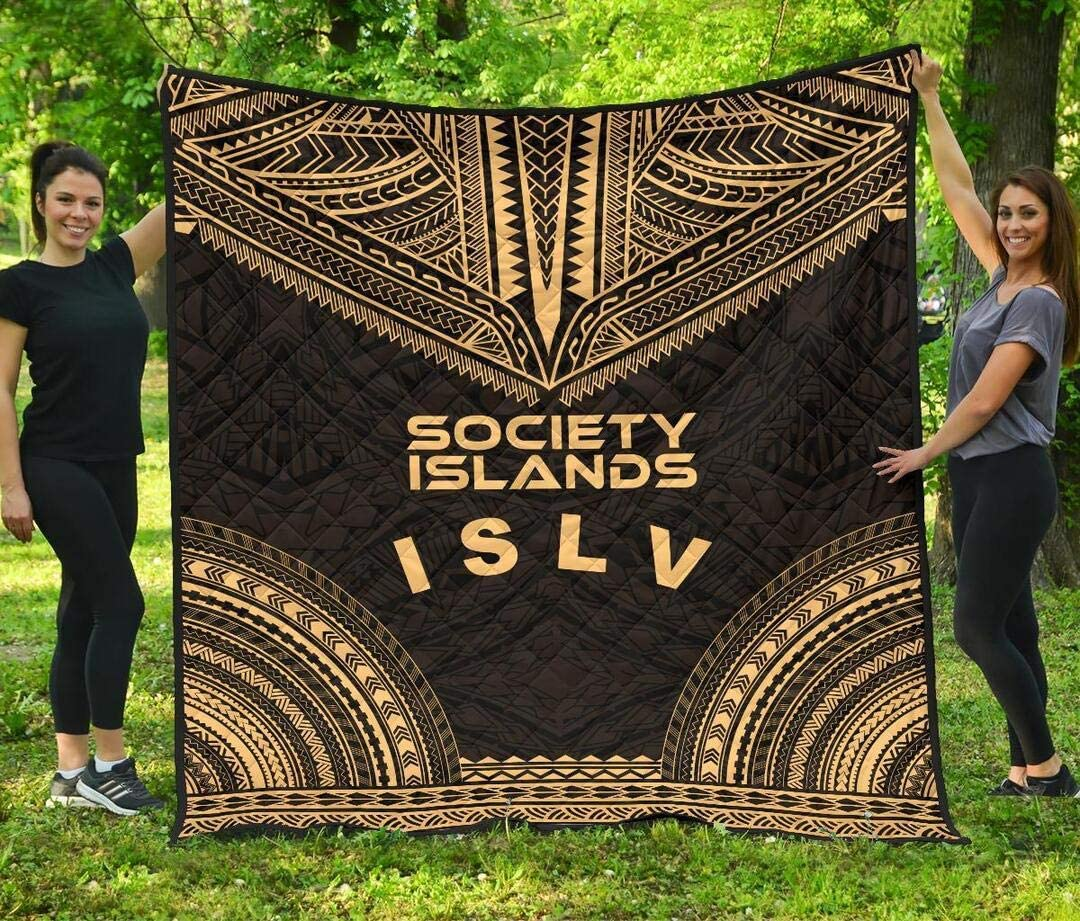 Personalized Society Ranking TOP17 Islands El Paso Mall Polynesian Chief Gold Quilt Funny -