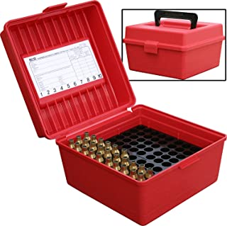 featured product MTM 100 Round Deluxe Handled Magnum Flip-Top Rifle Ammo Case