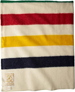 Hudson's Bay Company 108 by 100-Inch King Size 8 Point Blanket, Multi Striped