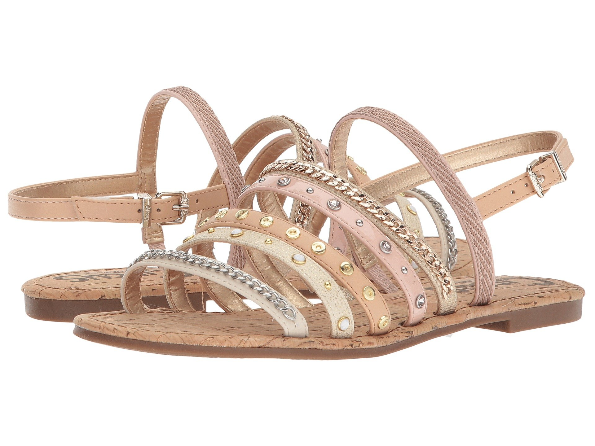 8ca9c73c195eb Circus By Sam Edelman Bev Strappy Embellished Sandal In Modern Ivory Natural  Naked Shell
