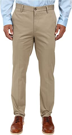 Signature Khaki Slim Tapered Flat Front