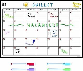 SmartPanda Calendario Magnético para Nevera - Ideal Planificador de Menú, Recordatorio, Lista de la Compra - Pizarra Magné...