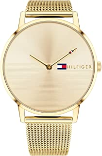 Tommy Hilfiger Women's Gold Dial Ionic Thin Gold Plated 2 Steel Watch - 1781972