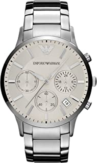 Emporio Armani Men's Quartz Watch, Analog Display and Stainless Steel Strap AR2458