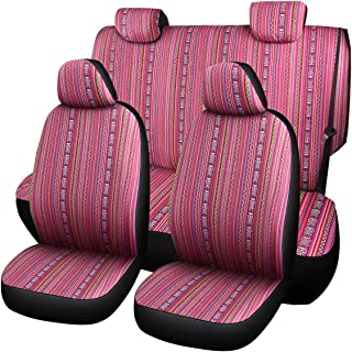 Durable Saddle Blanket Seat Covers-Pink Bohemian Style Seat Covers (boxi-g)