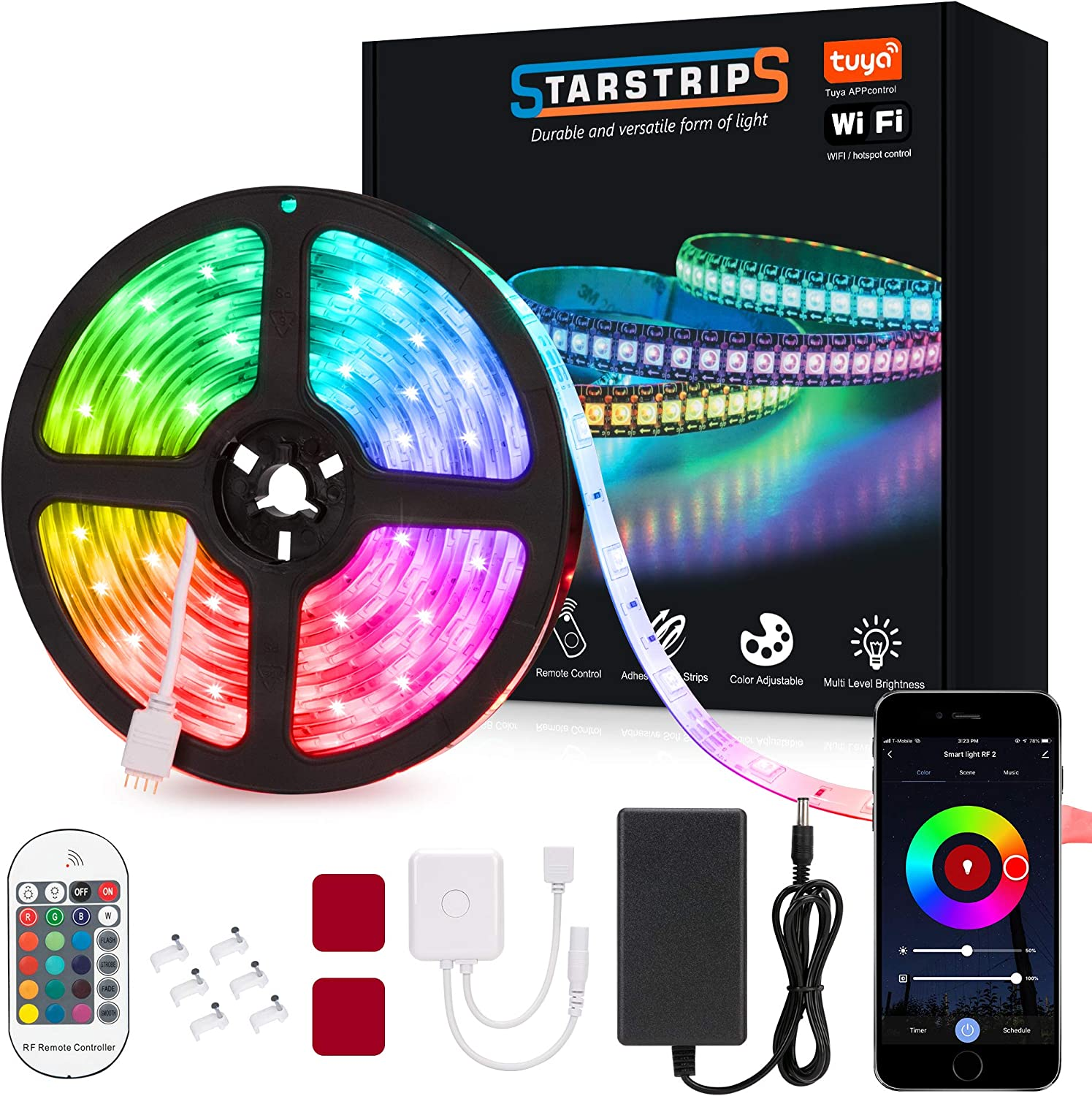Starstrips LED Strip Lights16.4ft WiFi with Directly managed store Smart Remote New sales RF 5050