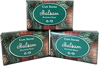 Balsam Scented Bar Hand Soap, Pack of 3 Bars, Cape Shore