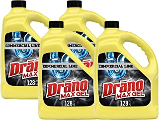 Drano Max Gel Commercial Line Clog Remover, 128 fl oz (Pack of 4)
