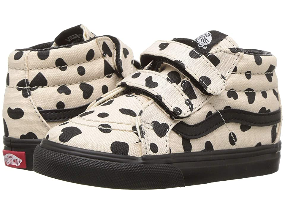 Vans Kids Sk8-Mid Reissue V (Infant/Toddler) ((Cheetah Hearts) Sand Dollar/Black) Girls Shoes
