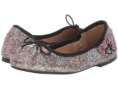 Sam Edelman Kids Felicia Ballet (Little Kid/Big Kid) (Black Floral Glitter) Girls Shoes