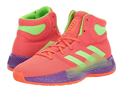 adidas Kids Pro Bounce Madness 2 (Big Kid) (Easy Coral/Solar Green/Shock Red) Kids Shoes