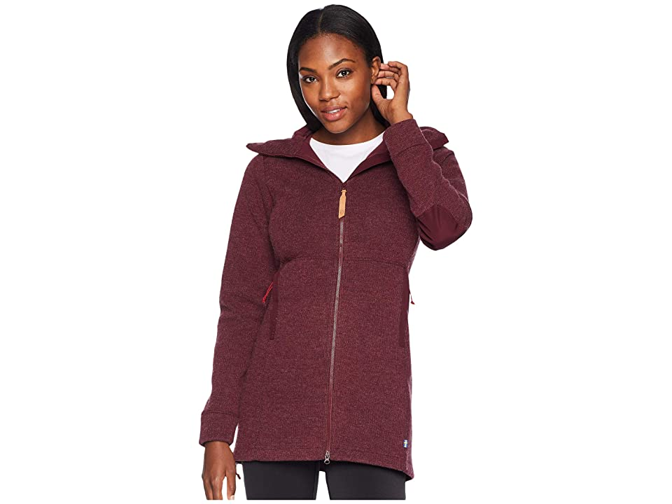 Fjallraven Ovik Wool Jacket (Dark Garnet) Women