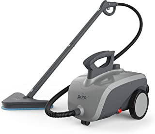 Pure Enrichment PureClean XL Rolling Steam Cleaner - 1500-Watt Multi-Purpose Household Steam Cleaning System - 18 Accessories for Deep Cleaning Floors, Windows, BBQ Grills, Ovens, Vehicles and More