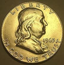 1963 D Silver Franklin Last Year Half Dollar MS-58