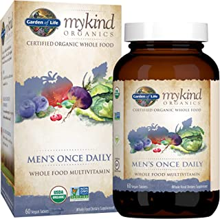 Garden of Life Multivitamin for Men - mykind Organic Men's Once Daily Whole Food Vitamin...