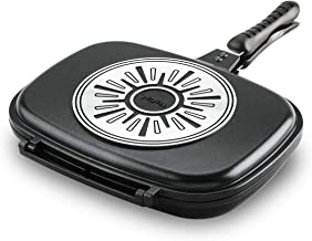 Tefal Double Sided Pan,Size 32X24 cm, A6339084, Aluminum, Black