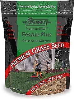 F.M. Brown's Premium Grass Seed Green Turf Fescue Plus Mixture, 5lb