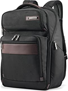 Samsonite Kombi Large Business Backpack with Smart Sleeve, Black/Brown, 17.5 x 12 x 7-Inch