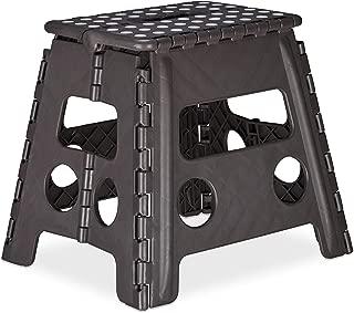 Sgabello in plastica pieghevole h 40cm portatile sedia cucina bagno giardino