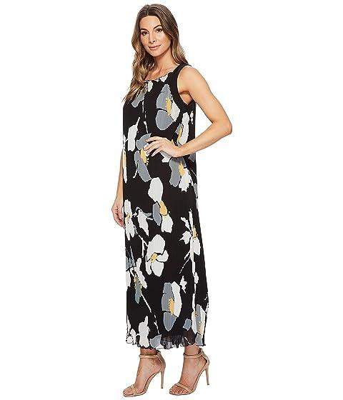 Malandrino Banana Oversized Volver Catherine CATHERINE Floral Correa Vestido plisado Delphine largo T85xqx4n