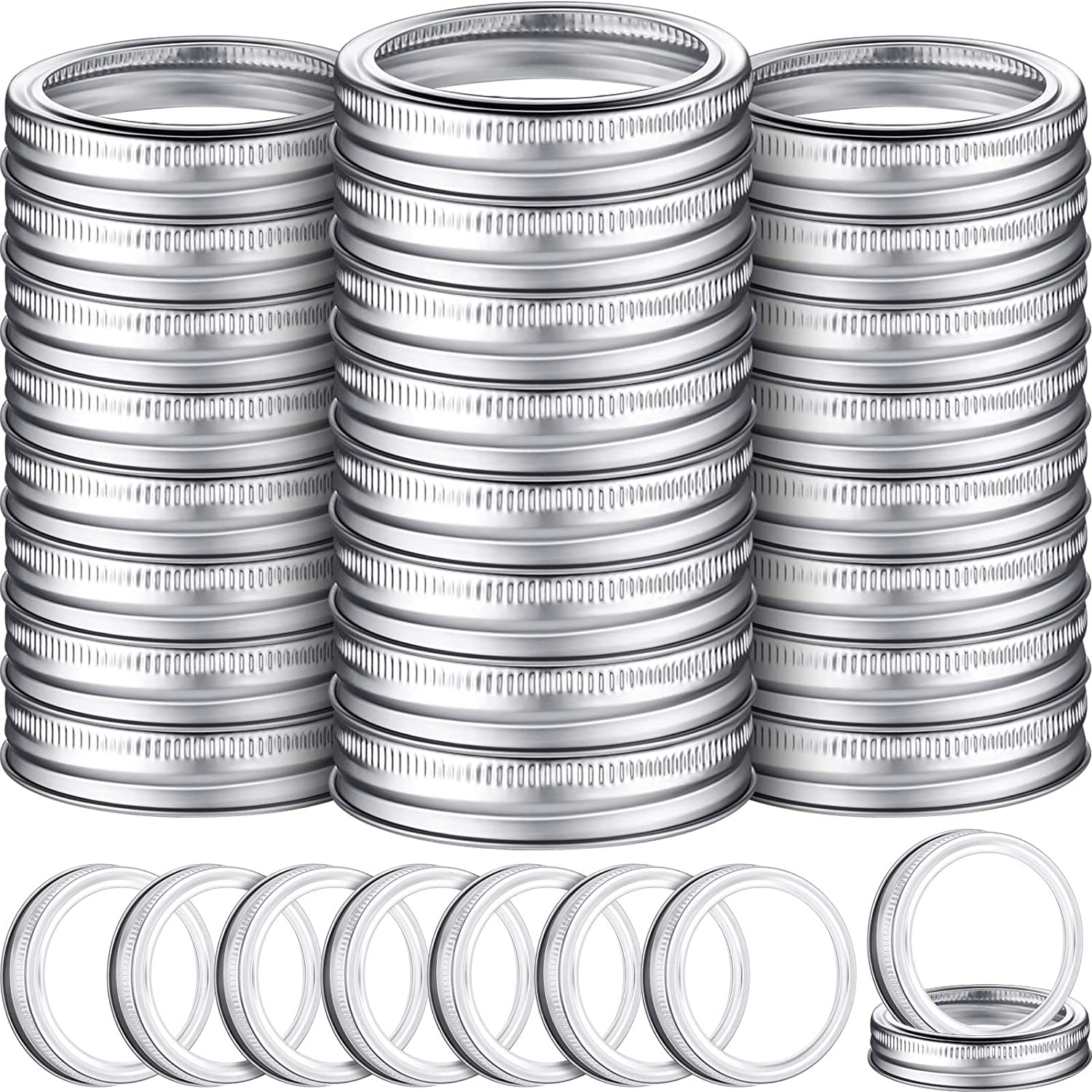 100 Pieces 70 mm Regular Jar Canning Replacem security Mouth Ring Indefinitely