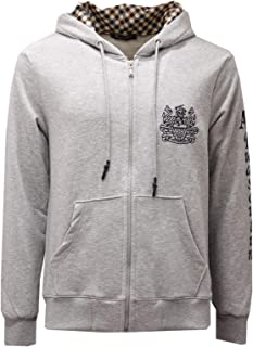 Aquascutum 2428AE Felpa Uomo Grey Full Zip Cotton Sweatshirt Man
