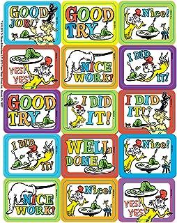 Paper Magic Eureka Dr. Seuss Green Eggs and Ham Stickers, 120 pc, 1.4'' W x 1'' H.