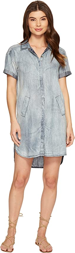 Linen Denim Tencel Shirtdress