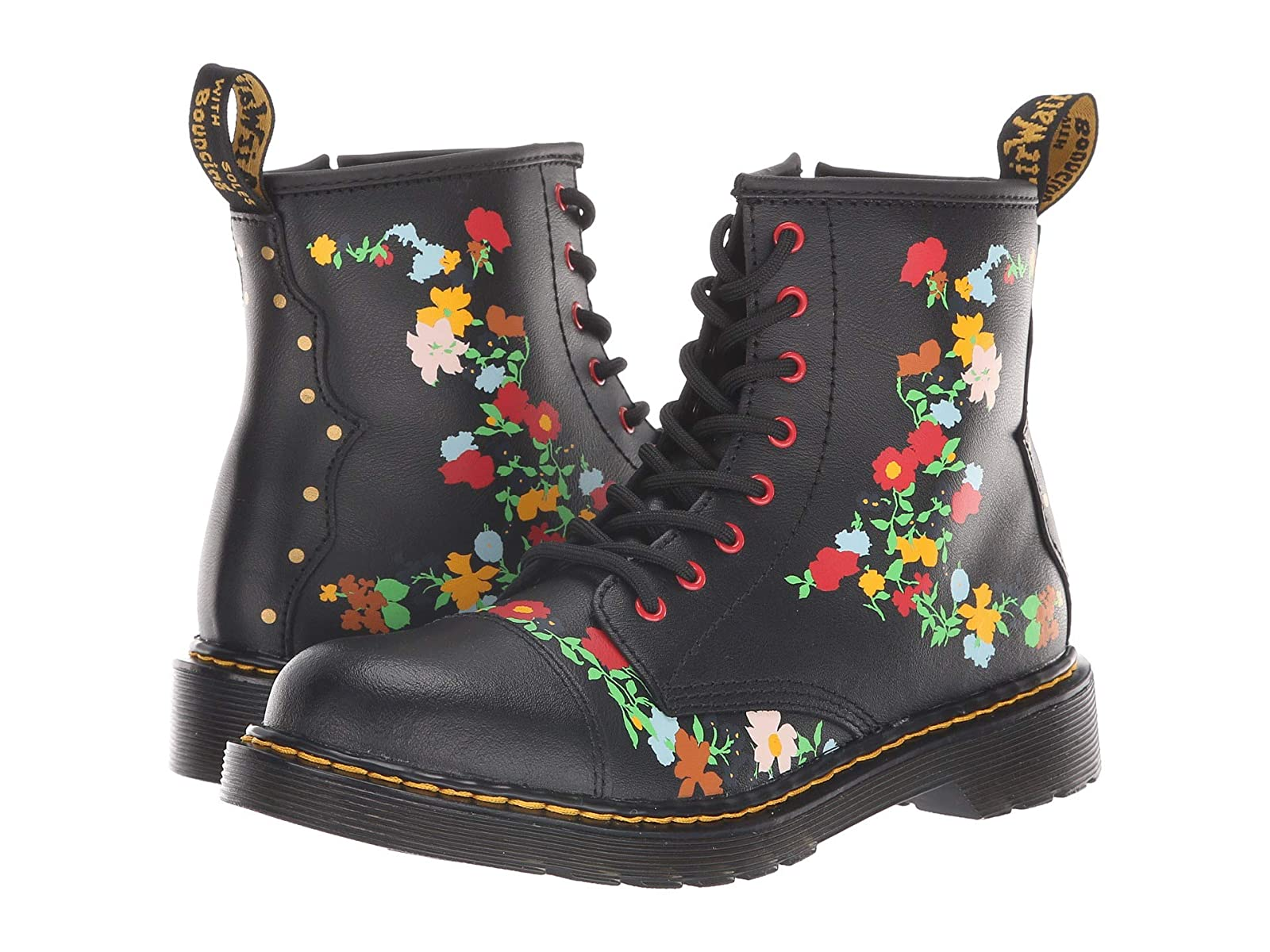Dr. Martens Kid's Collection (Big 1460 Pooch Flower (Big Collection Kid) ae42bd